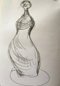 Sketch from Moore/Bacon show AGO 2014 by Madeline Walker
