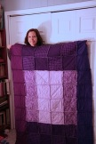 My first quilt - a rag quilt in Winter 2013 - purples (for meditation)