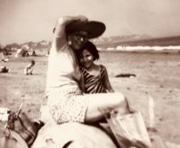 Grandma Phyllis and me, Phillips Beach near Boston, MA